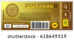 zoo ticket card coupon pass... | Shutterstock .eps vector #618649319