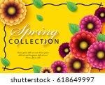 spring sale background vector...   Shutterstock .eps vector #618649997