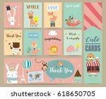 pink blue green collection for... | Shutterstock .eps vector #618650705