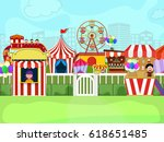 kids carnival illustration with ... | Shutterstock .eps vector #618651485