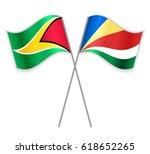 guyanese and seychellois... | Shutterstock .eps vector #618652265