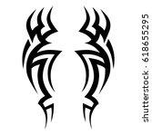 tattoo sketch tribal vector... | Shutterstock .eps vector #618655295