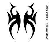tattoo sketch tribal vector...   Shutterstock .eps vector #618655304