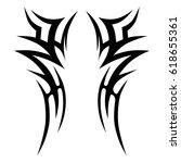 tribal tattoo art designs....   Shutterstock .eps vector #618655361