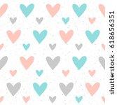 heart seamless pattern... | Shutterstock . vector #618656351