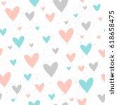 heart seamless pattern... | Shutterstock . vector #618658475