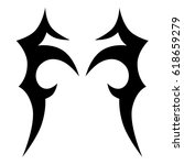 tattoo sketch tribal vector...   Shutterstock .eps vector #618659279