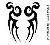 tattoo sketch tribal vector... | Shutterstock .eps vector #618659315