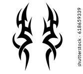 Tattoo tribal vector designs. Tribal tattoos.  Art tribal tattoo. Vector sketch of a tattoo.  Idea for design.   Shutterstock vector #618659339