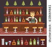 barman icon restaurant business ... | Shutterstock .eps vector #618664661
