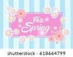 hello spring  card design | Shutterstock .eps vector #618664799