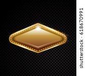 vector vegas golden frame.... | Shutterstock .eps vector #618670991