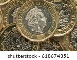 new british pound coins  2017... | Shutterstock . vector #618674351