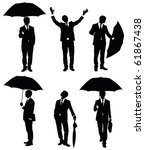 Set Of Silhouettes Of A...