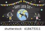 Earth Day  Globe Illustration...