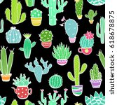 colorful seamless pattern of... | Shutterstock .eps vector #618678875