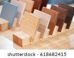 wooden samples of different... | Shutterstock . vector #618682415