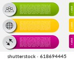 infographic template buttons... | Shutterstock .eps vector #618694445