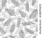 elegant seamless pattern with... | Shutterstock .eps vector #618694631