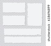 blank white torn paper pieces... | Shutterstock .eps vector #618696899
