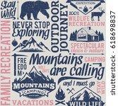 retro styled typographic vector ... | Shutterstock .eps vector #618698837