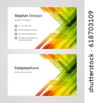 creative business card template ... | Shutterstock .eps vector #618703109