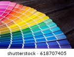 color palette guide of paint... | Shutterstock . vector #618707405