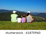 family of parents and two kids... | Shutterstock . vector #61870960