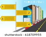 vector illustration guide post... | Shutterstock .eps vector #618709955