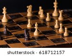 chess photographed on a... | Shutterstock . vector #618712157