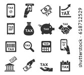 tax icon silhouette vector set | Shutterstock .eps vector #618712529