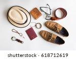 men's accessories and essential ...   Shutterstock . vector #618712619