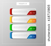 infographic button template... | Shutterstock .eps vector #618715805