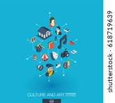 culture  art integrated 3d web... | Shutterstock .eps vector #618719639