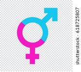male female gender symbol icon   Shutterstock .eps vector #618725807
