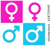 male female gender symbol icon | Shutterstock .eps vector #618725945