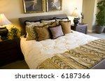 comfortable bedroom with bed... | Shutterstock . vector #6187366