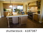 kitchen with tile floor and... | Shutterstock . vector #6187387