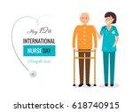 12 may. international nurse day ... | Shutterstock .eps vector #618740915