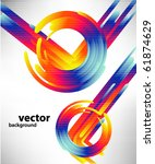 abstract technology circles and ... | Shutterstock .eps vector #61874629