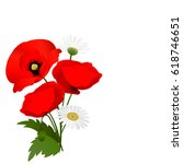 white background with red... | Shutterstock . vector #618746651