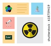 flat science set of theory of... | Shutterstock .eps vector #618759419