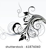 abstract floral background   Shutterstock .eps vector #61876060