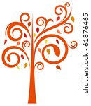 stylized autumnal tree. object... | Shutterstock .eps vector #61876465