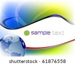 business template with globe   Shutterstock .eps vector #61876558