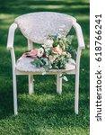 wedding dress  wedding rings ...   Shutterstock . vector #618766241