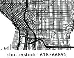 urban vector city map of... | Shutterstock .eps vector #618766895