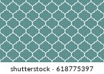 seamless cyan and white wide... | Shutterstock .eps vector #618775397