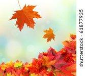 Stock photo  falling fall leaves 61877935