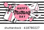 happy mothers day. fashion... | Shutterstock .eps vector #618780227